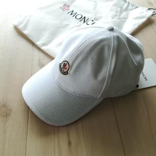 MONCLER - メンズ キャップ ホワイト モンクレール