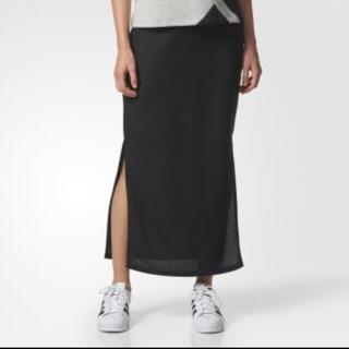 アディダス(adidas)のadidas スリット入りロングスカート(ロングスカート)