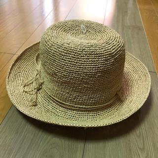 MUJI (無印良品) - 値下げ 新品 無印良品 ラフィアこま編み帽子