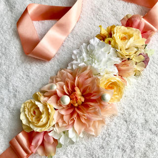 しほ様♡サッシュリボンベルト(ウェディングドレス)