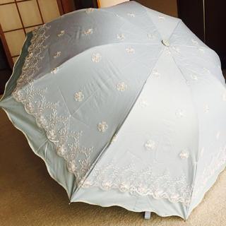 新品   レースの日傘   ブルー(傘)