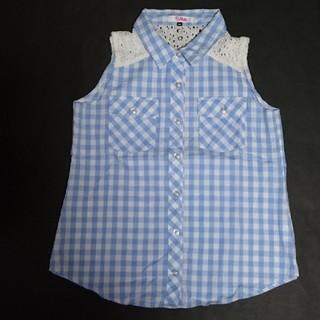 ピンクラテ(PINK-latte)のピンクラテ☆ ノースリーブ  XS (150)(Tシャツ/カットソー)