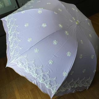 新品   レースの日傘   パープル(傘)