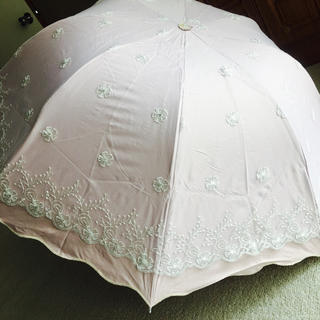 新品   レースの日傘  ピンク(傘)