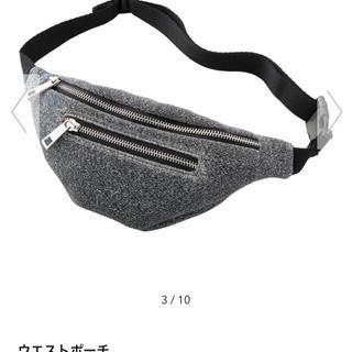 ジーユー(GU)の新品未使用 GU シルバー ラメ レディース ウエストポーチ(ボディバッグ/ウエストポーチ)