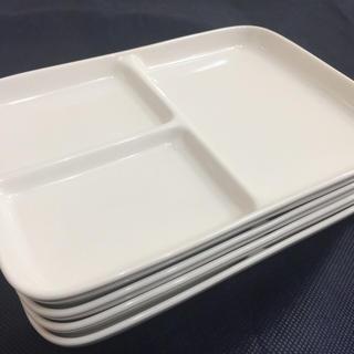 ムジルシリョウヒン(MUJI (無印良品))の無印良品 角皿・仕切付・小   4枚セット(食器)