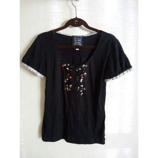 シンシアローリー(Cynthia Rowley)の★12 Cynthia Rowley Tシャツ ブラック リボン(Tシャツ(半袖/袖なし))