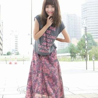 ザラ(ZARA)の花柄ロングSK カットシャツ(ロングスカート)