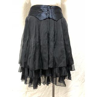 カレンミレン(Karen Millen)のKAREN MILLEN シルク スカート S 美品(ひざ丈スカート)