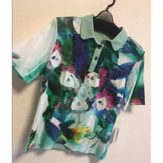 イタリヤ(伊太利屋)の【新品】半袖Tシャツ ホワイトグリーンL 11号(Tシャツ(半袖/袖なし))