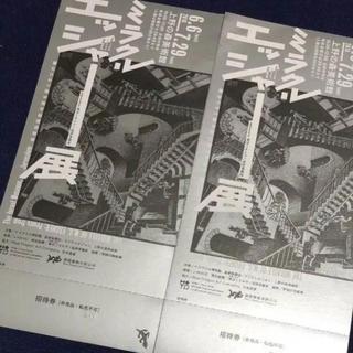 ミラクル エッシャー展 チケット 招待券 2枚(美術館/博物館)
