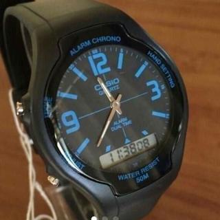 カシオ(CASIO)の新品✨カシオ CASIO スタンダード アナデジ 腕時計 AW-90H-2B(腕時計(アナログ))