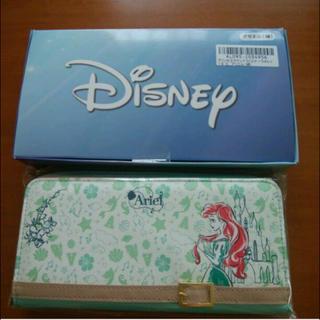 ディズニー(Disney)の値下げ ディズニープリンセス ラウンドファスナーウォレット アリエル グリーン(財布)