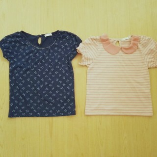 ジーユー(GU)のGU Tシャツ 110サイズ 2枚セット(Tシャツ/カットソー)
