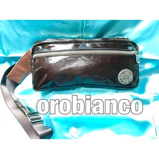 オロビアンコ(Orobianco)のオロビアンコ ボディバッグ エナメル ショルダー イタリア製 高級感 中古美品(ボディーバッグ)