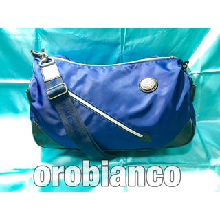オロビアンコ(Orobianco)のオロビアンコ ショルダーバッグ ナイロン レザー イタリア製 ブルー 青(ショルダーバッグ)