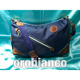 オロビアンコ(Orobianco)のオロビアンコ ショルダーバッグ ネイビー 紺 通勤 小旅行 斜め掛け イタリア製(ショルダーバッグ)