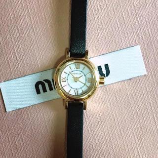 アガタ(AGATHA)のAGATHA PARIS ブラックレザー 腕時計(腕時計)