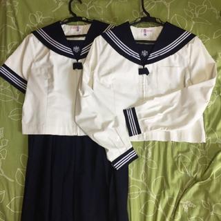 目白研心中学校高等学校制服 夏物 長袖スカートセット(衣装一式)