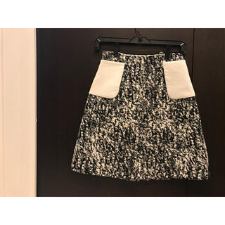 ジャンバティスタヴァリ(Giambattista Valli)のジャンバティスタヴァリ★オートクチュール 台形スカート 38/XS〜S 未使用(ミニスカート)