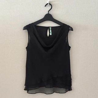 CEST LAVIE♡黒色のドレープシャツ