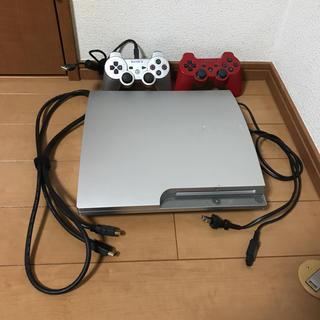 プレイステーション(PlayStation)のPS3  プレイステーション3 中古  コントローラー2つ、ソフト付き(家庭用ゲーム機本体)