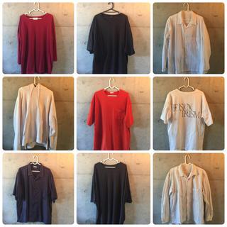 ジーユー(GU)のファストファッション洋服 9点セット メンズ g.u wego Monomart(Tシャツ/カットソー(半袖/袖なし))