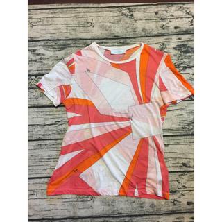 エミリオプッチ(EMILIO PUCCI)のEmilio Puccini 白ピンクオレンジのTシャツ(Tシャツ(半袖/袖なし))