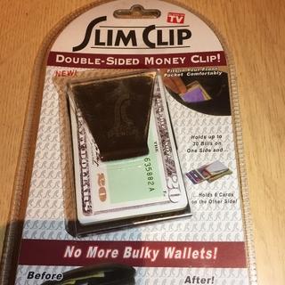 送料込 即購入可 お札入れ カード入れ 大容量 ダブルサイドマネークリップ(マネークリップ)
