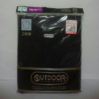 アウトドアプロダクツ(OUTDOOR PRODUCTS)のOUTDOOR 2枚組 半袖v首シャツ L 中黒 綿100(Tシャツ/カットソー(半袖/袖なし))
