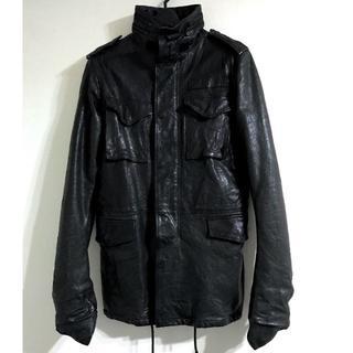 エイケイエム(AKM)の定価205200円 AKM M-66レザーミリタリージャケット wjk(レザージャケット)