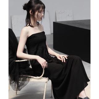 ヌードマサヒコマルヤマ(nude:masahiko maruyama)のnude mm ブラックロングドレス スカート(ロングワンピース/マキシワンピース)