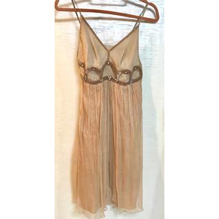 ツインセット(TWIN-SET)のツインセットのシルク100%ドレス(ミディアムドレス)