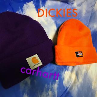 カーハート(carhartt)のDICKIESとcarharttのニット帽(ニット帽/ビーニー)