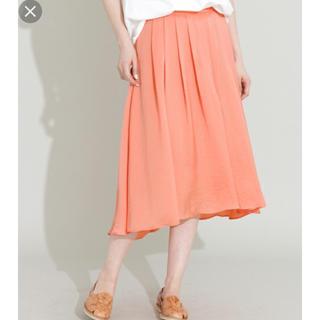 リサーチ(....... RESEARCH)のアーバンリサーチ サテンスカート 新品(ひざ丈スカート)
