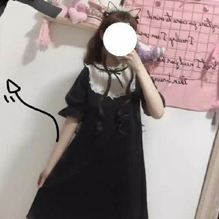 ロリータワンピース黒アンクルージュ ハニーシナモン (衣装)