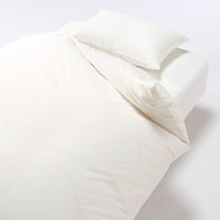ムジルシリョウヒン(MUJI (無印良品))の無印良品 オーガニックコットン高密度織ボックスシーツ シングル オフ白(シーツ/カバー)