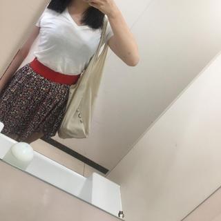 ロキエ(Lochie)の花柄スカート vintage (ミニスカート)