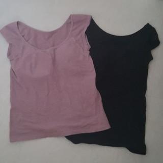 MUJI (無印良品) - 無印良品 フレンチスリーブ カップ付きTシャツ