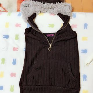 アビラピンク(AVIRA PINK)のアビラピンク/フード付きトップス(Tシャツ(半袖/袖なし))
