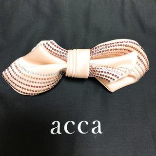 アッカ(acca)のacca  リボンバレッタ(ピンク)【使用感あり】(バレッタ/ヘアクリップ)