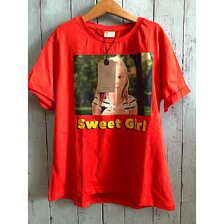 ザラ(ZARA)の新品 ザラ ZARA ロゴ プリント Tシャツ 赤 134 130 サイズ9(Tシャツ/カットソー)