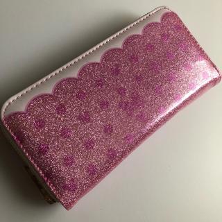 ディズニー(Disney)のラスト1点❗️新品❗️ディズニー キラキラ ウォレット 長財布 ピンク ドット(財布)