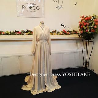 ウエディングドレス 二次会用ドレス シフォン生地(ウェディングドレス)