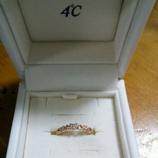 ヨンドシー(4℃)の4℃ハートダイヤリング(リング(指輪))