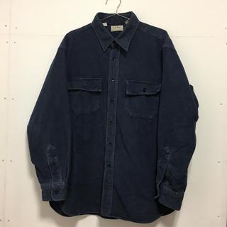 エルエルビーン(L.L.Bean)のエルエルビーン L.L.Bean 厚手 濃紺 長袖シャツ(シャツ)