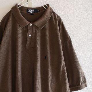 ポロラルフローレン(POLO RALPH LAUREN)のUS ラルフローレン XXLbrownnv ビッグサイズ ポロシャツ(ポロシャツ)
