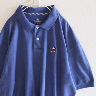 ディズニー(Disney)のUS ディズニー ミッキーマウス Blue ポロシャツ XL(ポロシャツ)