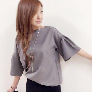 アイシービー(ICB)の美品♡袖フレアボーダーTシャツ♡カットソー(カットソー(半袖/袖なし))