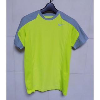 ナイキ(NIKE)のナイキ DRI-FIT 蛍光黄色&グレー 半袖Tシャツ155(Tシャツ/カットソー)